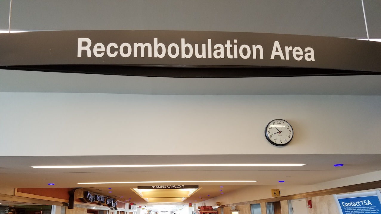 Image result for recombobulation area
